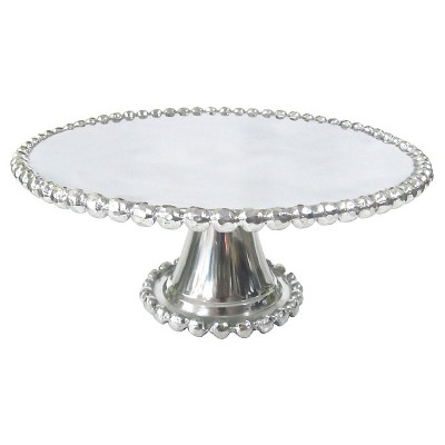 Threshold™ Beaded Cake Stand No.of Pieces:1 Material: Aluminium Shape: Sand Cast Color: Polish