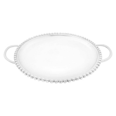 Threshold™ Beaded Serving Tray No.of Pieces:1 Material: Aluminium Shape: Sand Cast Color: Polish