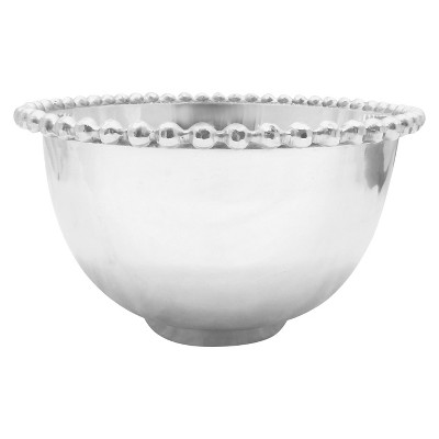Threshold™ Serving Beaded XL Bowl   No.of Pieces:1 Material: Aluminium Shape: Sand Cast Color: Polish