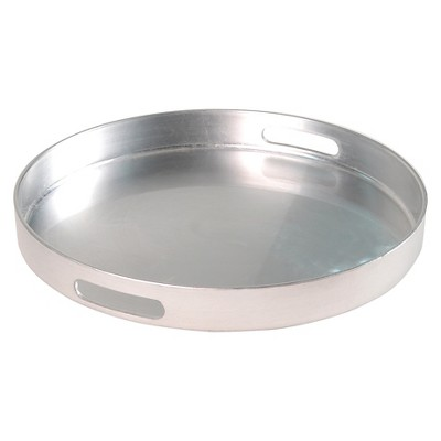 Threshold™ Tray - Round polypro silver