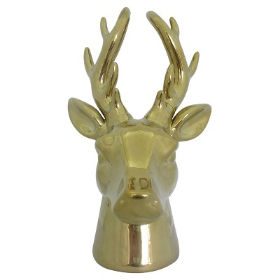 Threshold Gold Stoneware Stag Head