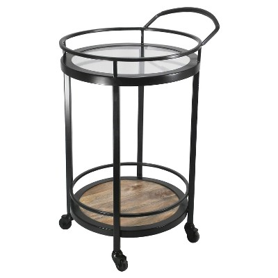 Threshold Round Two-Tiered Bar Cart