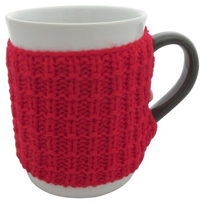 Threshold™ 1-pc. coffee mugs with red pattern sweater. (12oz)