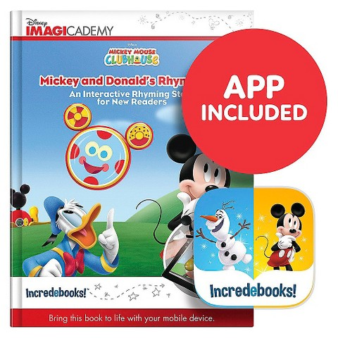 Mickey and Donald's Rhyme Time (Incredebooks: Disney Imagicademy Edition)