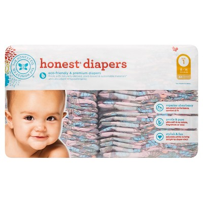 Honest Company Diapers, Butterfly Fields - Size 1  (44 Count)