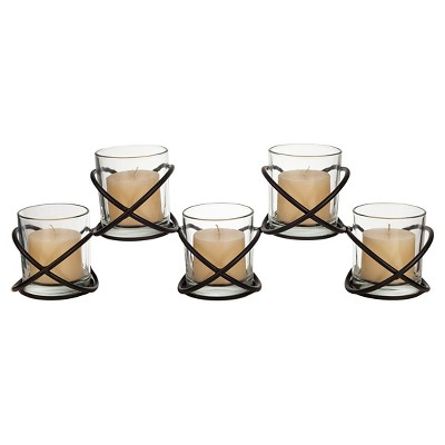 Orbits 5 Glass Candle Hurricane