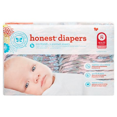 Honest Company Diapers Desert Flowers - Newborn  (40 Count)