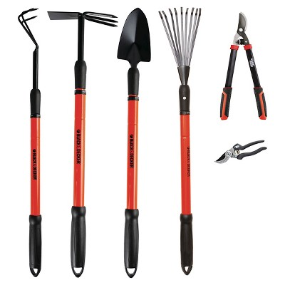 Black & Decker 6pc Pruning and Digging Set