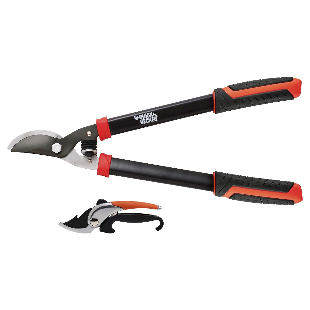 Upc 844841051407 black decker 2 piece cutting tool for Garden cutting tool set