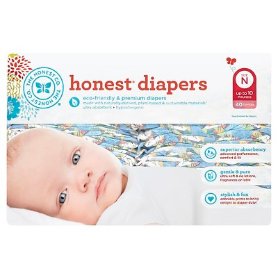 Honest Company Diapers, King of the Jungle - Newborn  (40 Count)