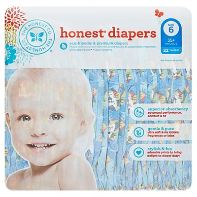 Honest Company Diapers, King of the Jungle - Size 6  (22 Count)