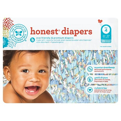 Honest Company Diapers, King of the Jungle - Size 4  (29 Count)