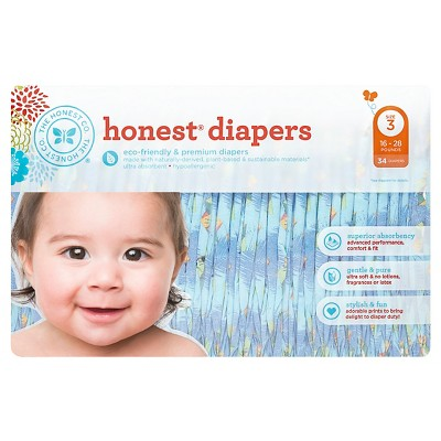 Honest Company Diapers, King of the Jungle - Size 3  (34 Count)