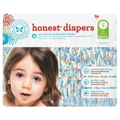 Honest Company Diapers, King of the Jungle - Size 5  (25 Count)