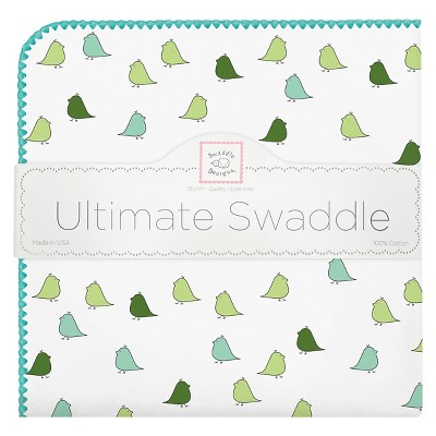 SwaddleDesigns® Ultimate Receiving Blanket - Little Chickies - Turquoise