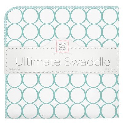 SwaddleDesigns® Ultimate Receiving Blanket - Mod Circles - Turquoise