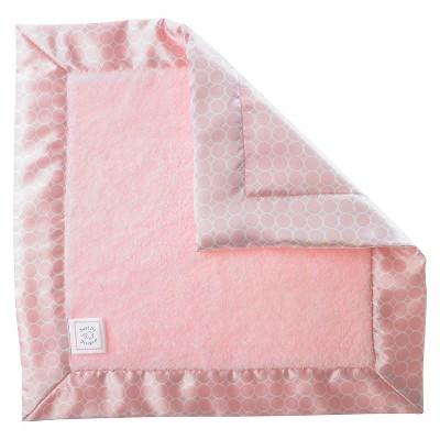 SwaddleDesigns® Fuzzy Baby Lovie® - Satin Binding - Pastel Pink