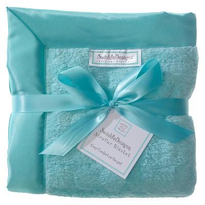SwaddleDesigns® Fuzzy Stroller Blanket - Jewel Tones - Turquoise