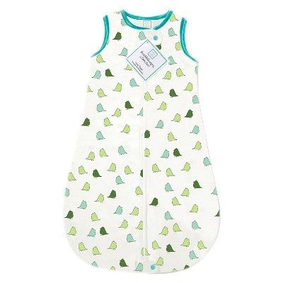 SwaddleDesigns® zzZipMe Sack® - Birds - Turquoise - 3-6 M