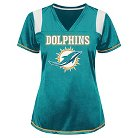 Miami Dolphins Women's Shimmer Top XL