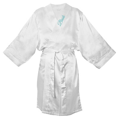 Women's Bride Satin White Robe - XL/XXL