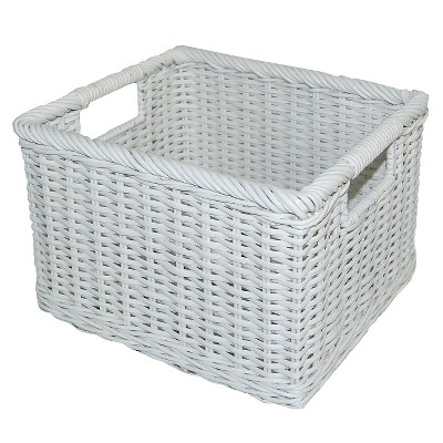 Rattan Milk Crate Small White - Pillowfort™