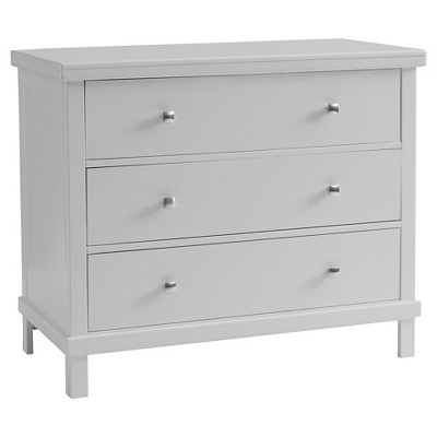 Sealy 3 Drawer Gray Contemporary Dresser -  Adult & Baby