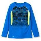 Boys' Long Sleeve Tech T-Shirt  Blue Brilliance M - C9 Champion®