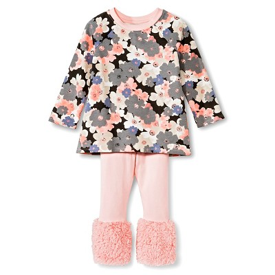 Female Top And Bottom Sets Genuine Kids Daydream Pink 6