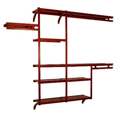 "John Louis Home Standard Closet Shelving System - Red Mahogany (12"")"