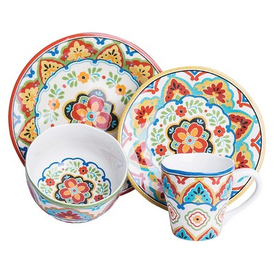 222 Fifth El Centro 16 Piece Dinnerware Set