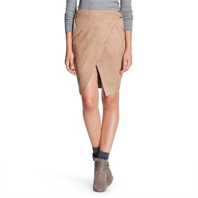 Suede Skirt Tan XL - 3Hearts