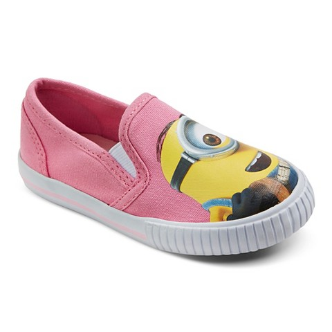 minion toddler s canvas sneakers pink