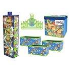 Nickelodeon Teenage Mutant Ninja Turtle 10 Piece Closet Organization Set - Multi-Colored