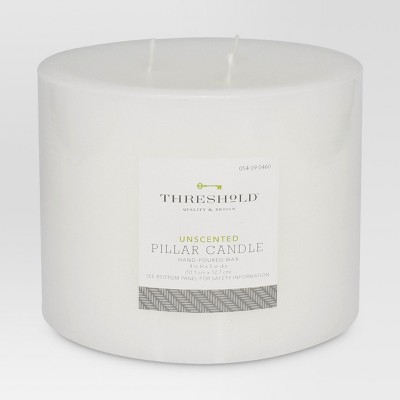 Threshold Fragrance Free White 4x5 Candle