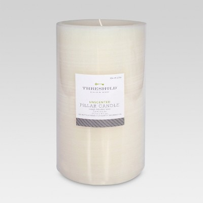 Threshold  Fragrance Free Cream 7x4 Pillar Candle