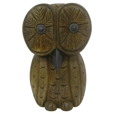 Wood and Metal Owl - Large