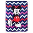 """Disney® Mickey Mouse Chevron Blanket - Gray/White (62""""x90"""")"""