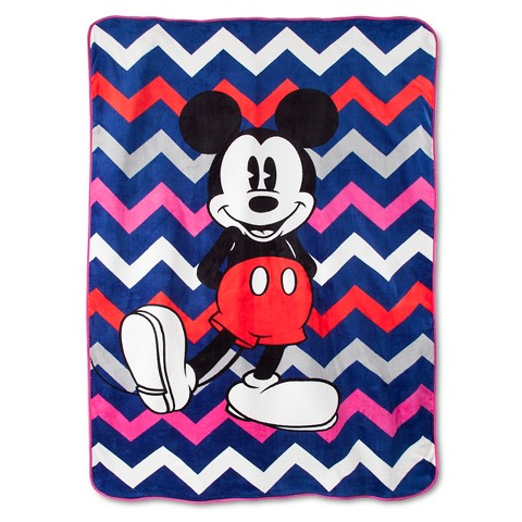 Disney® Mickey Mouse Chevron Blanket