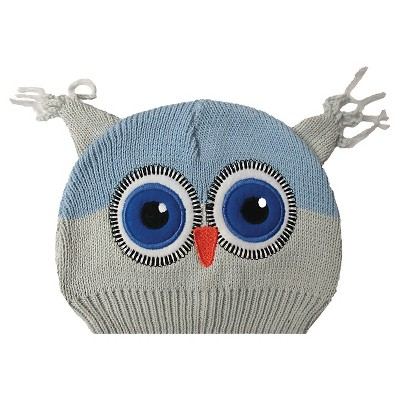 Newborn Boys' Owl Beanie Grey