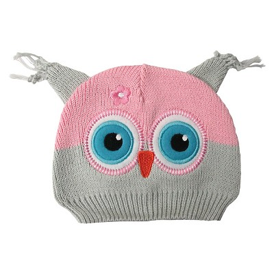 Newborn Girls' Owl Beanie Grey