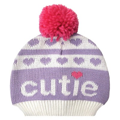 Newborn Girls' Cutie Beanie Purple