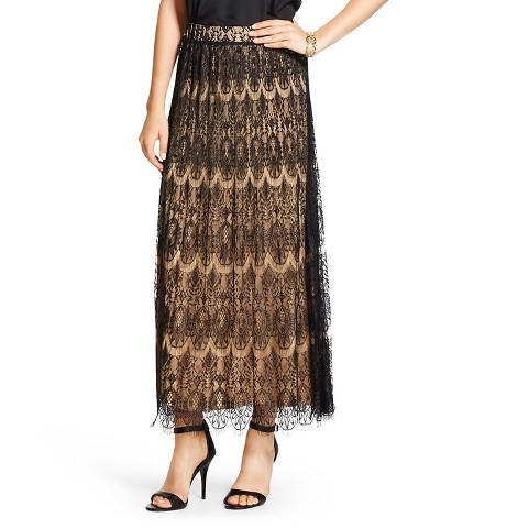 s lace maxi skirt black wd 183 ny black target