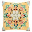 Cotton Canvas Embroidered Square Pillow