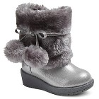 Toddler Girls' Cherokee Darica Fur Boots - Grey