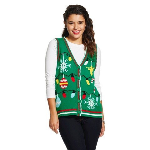 Holiday Sweater Vest Green - Xhilaration™