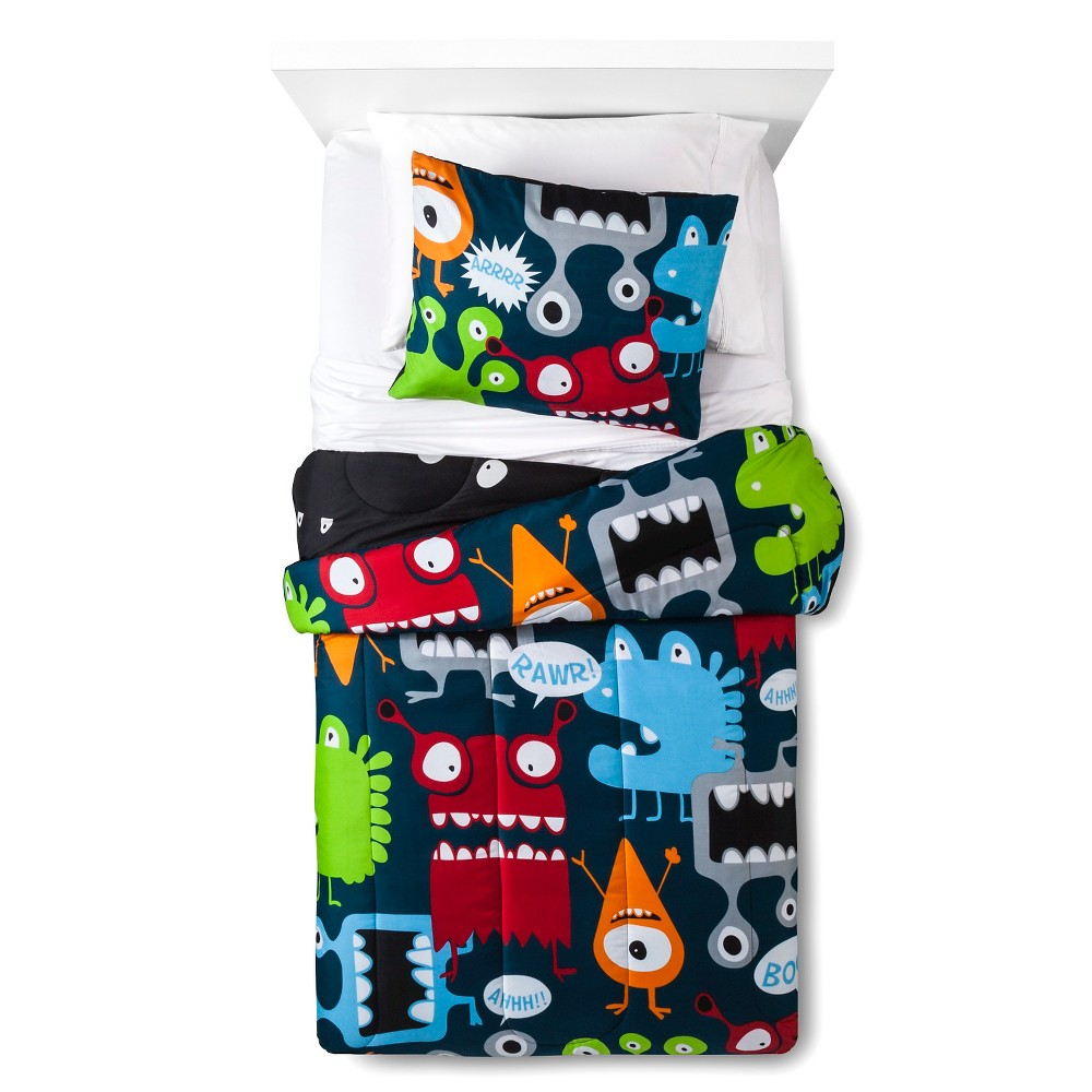 Monster Comforter Set - Blue (Twin)