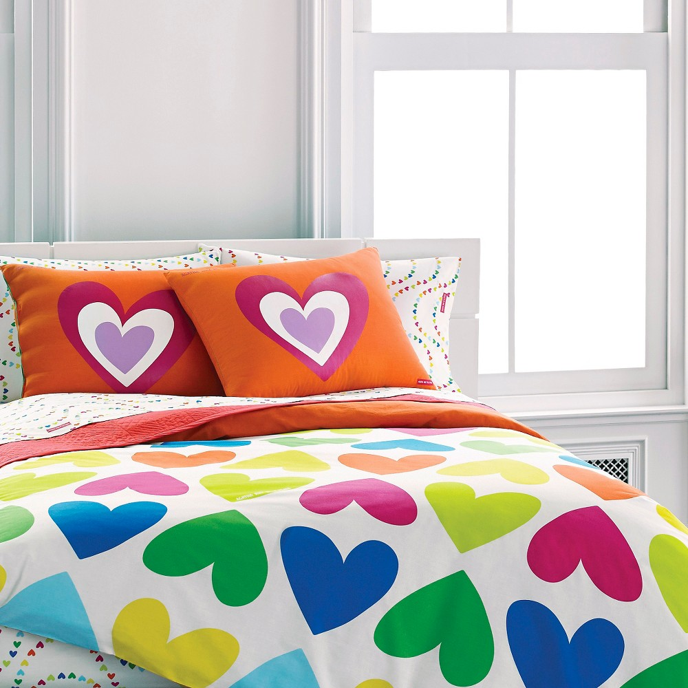 Polka Dot Comforters And Hearts Bedding