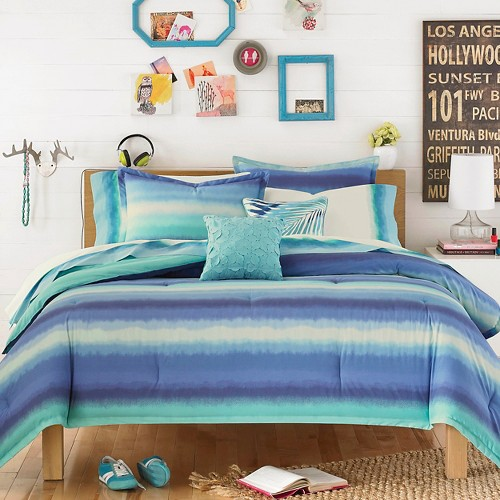 Electric Beach Comforter Set Blue Teen Vogue 174 Ebay