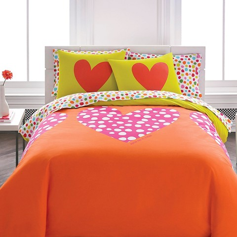 Polka Heart Mini Comforter Set